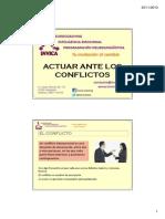 Actuar Ante Los Conflictos