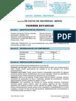 Msds Thinner Estandar
