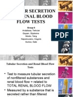 Tubular Secretion and Renal Blood Flow Tests - Grp. 6