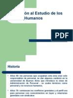 Introduccion Al Estudio de Los Rrhh Primera y Segunda Clase