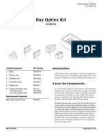 Ray Optics Kit Manual OS 8516A