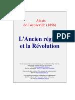 TOCQUEVILLE - L'Ancien Régime Et La Révolution