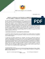 Misiva Cautelar CIC-MC001-2015 a favor de Clérigos y Fieles de la Iglesia Católica