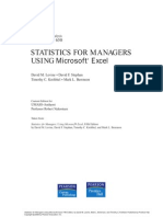 Cover & Table of Contents - Statistics for Managers Using Microsoft Excel (5th Edition)