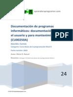 CU00250A Documentacion Programas Informaticos Para Usuario y Mantenimiento