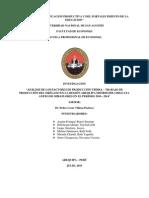 Análisis de Los Factores de Producción Tierra – Trabajo de Producción Del Orégano en La Región Arequipa Distritode Chiguata Anexo de Miraflores en El Periodo 2010 - 2014