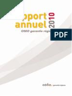 Rapport Annuel OSEO Garantie Régions 2010