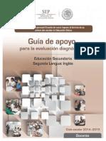 Guia de Apoyo Evaluacion Diagnostica Secundaria Ingles