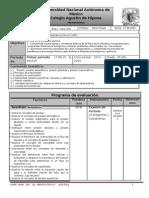 Plan y Programa de Eval Fisica IV a-II 1p 2015-2016