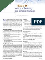 Zero D - A Method of Reducing Industrial Softener Discharge - Michaud