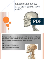 Articulaciones de La Columna Vertebral Con El Cráneo