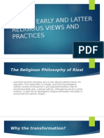 Jose Rizal's Religious Views and Practices