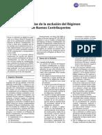 Regimen de Buenos Contribuyentes