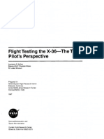 Flight Testing the X-36-The Test Pilot's Perspective