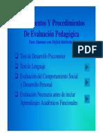 Evaluación Psicopedagogica