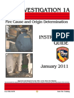 Fire Cause and Determination Investigation