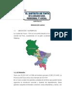 Monografia de La Provincia de Canchis