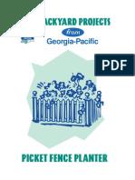 Picket Fence Planter