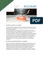 Types de dentiers