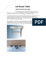 Professional Router Table