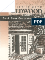 Redwood Deck Over Concrete