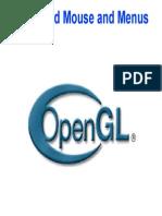 OpenGL - Teclado, Mouse e Menus