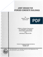 Report UNIVERSITY of KANSAS by David Darwin - Joint Design for Reinforced Concrete Buildings, 1987