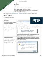User Interface Text (Windows)