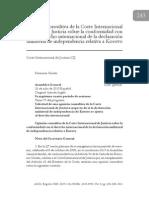 Opinión Consultiva -Kosovo 2010 (Español)