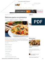 Deliciosa Pasta Con Pimientos - El Gran Chef