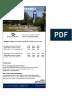 Birmingham International Timetable Sept14