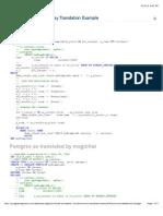 exhibit 1 associative array translation example