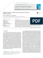 Adaptive Response surface based efficient finite element modeling