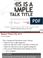 Flip Beamer Template