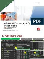 Indosat WDT Acceptance Operation Guide Book for BTS