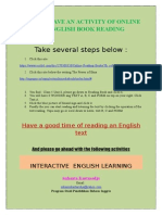 Online English Text Reading ad Interactive English Learning