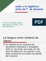 (2)La Linguistica de F. Saussure
