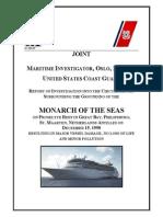 Monarch of the Sea Grounding 15Dec98
