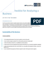 BIF Checklist