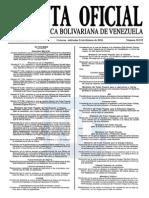 Sumario Gaceta Oficial 39.373