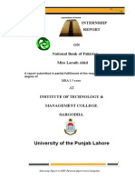 Ikram Khan Internship Report NBP