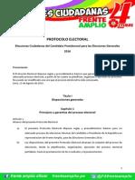 Protocolo Electoral Frente Amplio presidenciales 2015