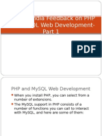 SynapseIndia Feedback on PHP and MySQL Web Development- Part 1