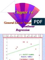General Linear Square and Non Linear Regression