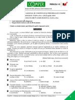 LimbaRomana EtapaII 14-15 ClasaIII Subiect