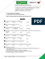 Matematica EtapaI 14-15 ClasaIII Subiect