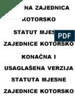 Statut MZ Kotorsko