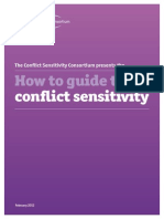 How to guide to conflict sensitivity