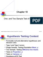 Ch10 HypothesisTest One AndTwo