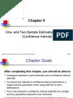 Ch09 Estimation ConfidenceInterval